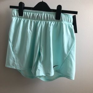 Brand New with tags Aqua/Teal Nike running shorts